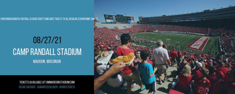 2021 Wisconsin Badgers Football Season Tickets (Includes Tickets To All Regular Season Home Games) at Camp Randall Stadium